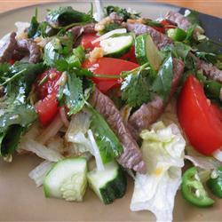 rindfleischsalat mit thai dressing