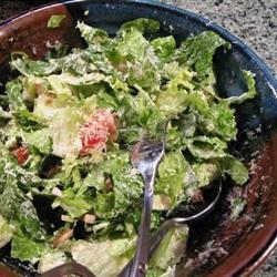 römersalat mit knoblauch anchovis dressing