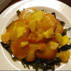 rote bete salat mit orangen und Äpfeln