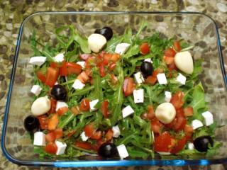 rucolasalat griechische art