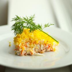 russischer schichtsalat mimosa salat