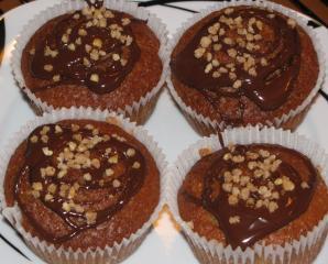 saftige nutella kirsch vanille muffins