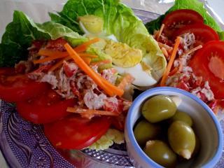 salat aus der hand