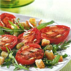 salat aus gegrillten tomaten