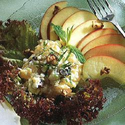 salat mit hüttenkäse und ananas