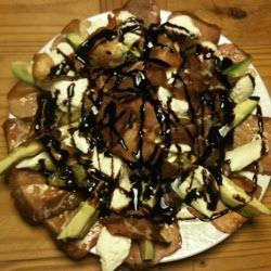 salat mit mozzarella avocado orange und schinken