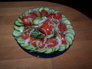 salat von dicken bohnen und mais