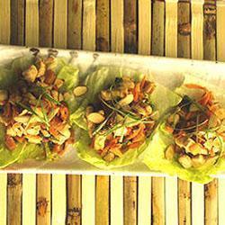 salat wrap mit kirschen und hähnchen