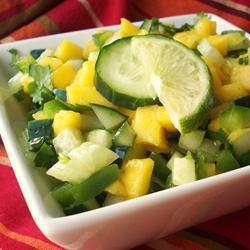salsa mit gurken und mango