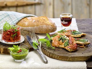 saltimbocca mit zweierlei saucen