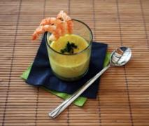 scampi mit curry ingwer suppe