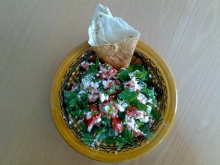 schafskäse tomaten salat mit frischer minze
