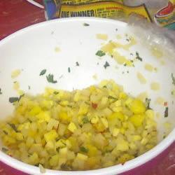 scharfe pfirsich mango salsa