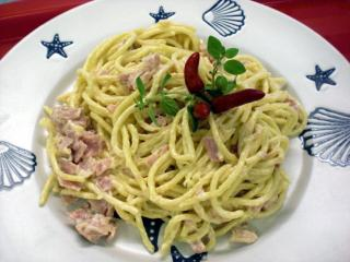 scharfe spaghetti carbonara