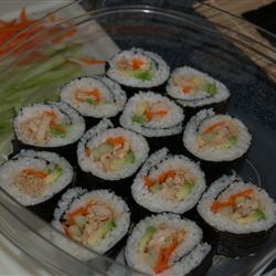 scharfe thunfisch sushirolle