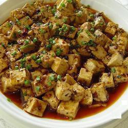 scharfer gebratener tofu ma po tofu