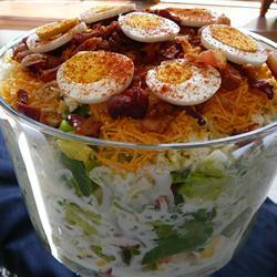 schichtsalat ohne mais