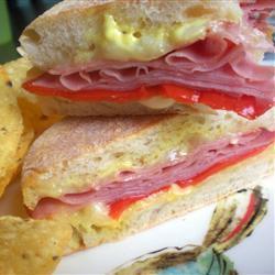schinken panini mit gruyère und paprika