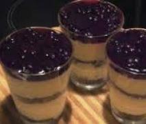 schneewittchen im glas mohn quark dessert