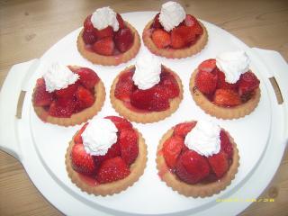 schnelle erdbeer schoko törtchen