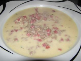 schnelle hackfleisch schinken käsesuppe