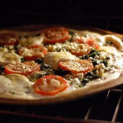 schnelle mozzarella pizza