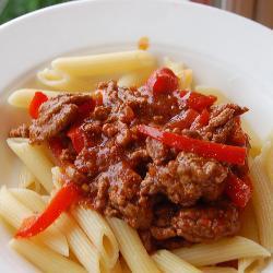 schnelle nudeln mit hackfleisch und paprika