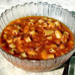 schnelle pastasuppe mit weißen bohnen pasta e fagioli