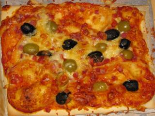 schnelle pizzaschnitten amp quot oliven schinken amp quot