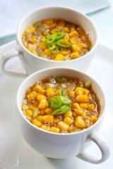 schnelle suppe mit erbsen und mais