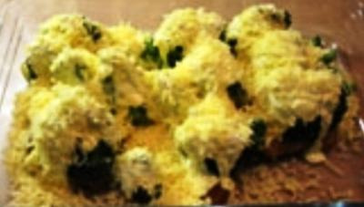 schnitzel mit brokkoli und blumenkohl überbacken