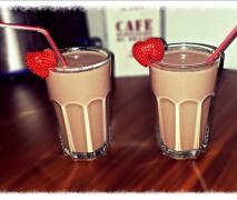 schoko erdbeer bananen smoothie