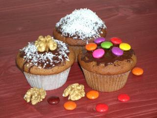 schoko mandel muffin