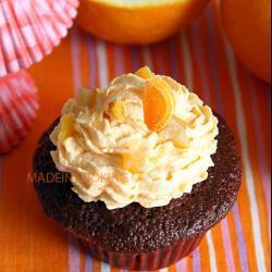 schoko orangen cupcakes mit weißer schokolade