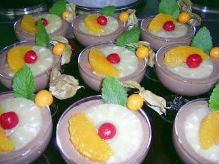 schokoladen frucht creme