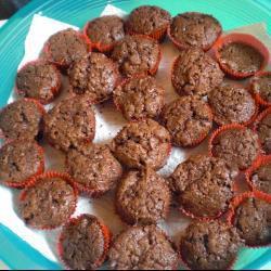 schokoladenmuffins mit schuss