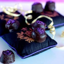 schokoladentrüffel mit haselnuss