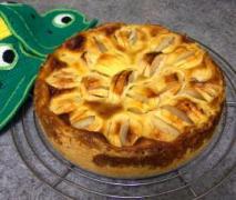 schwäbischer apfelkuchen mit sahneguss