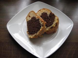 schwarz weiß kuchen mit rum