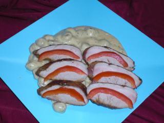 schweinefilet auf champignon käse sauce
