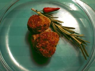 schweinefiletmedaillons mit rucolakruste