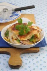 schweinelendchen mit chicoree käse überbacken