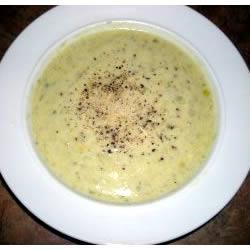senf lauch suppe mit käse
