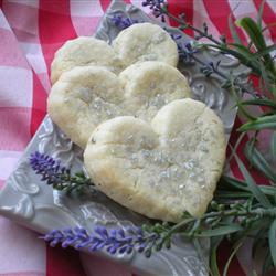 shortbread mit lavendel