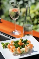 shrimps salat zum brunch oder als vorspeise