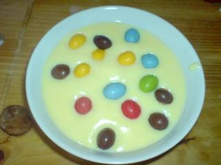 smarties pudding