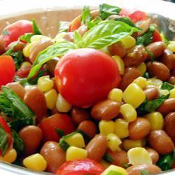 sommerlicher bohnen mais salat