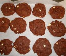 sour cream schokoladen cookies