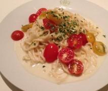 spaghetti gorgonzola mit frischen tomaten