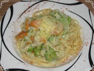 spaghetti mit kaiserlicher gorgonzolasauce